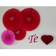 rosetas vermelhas para dia dos namorados kit decoração