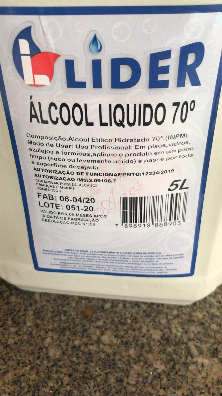 Álcool Liquido 70º - envio em até 2 dias - atendemos atacado