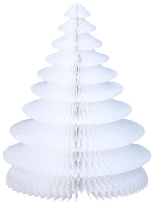 Enfeite Arvore de Natal 48cm Branca decorativa sala pequena decoração natalina apartamento