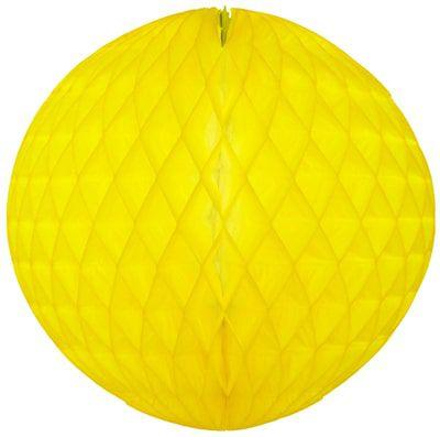 Balão GLOBO Bola de Papel de seda Cor Amarelo Claro GiroToy Enfeites