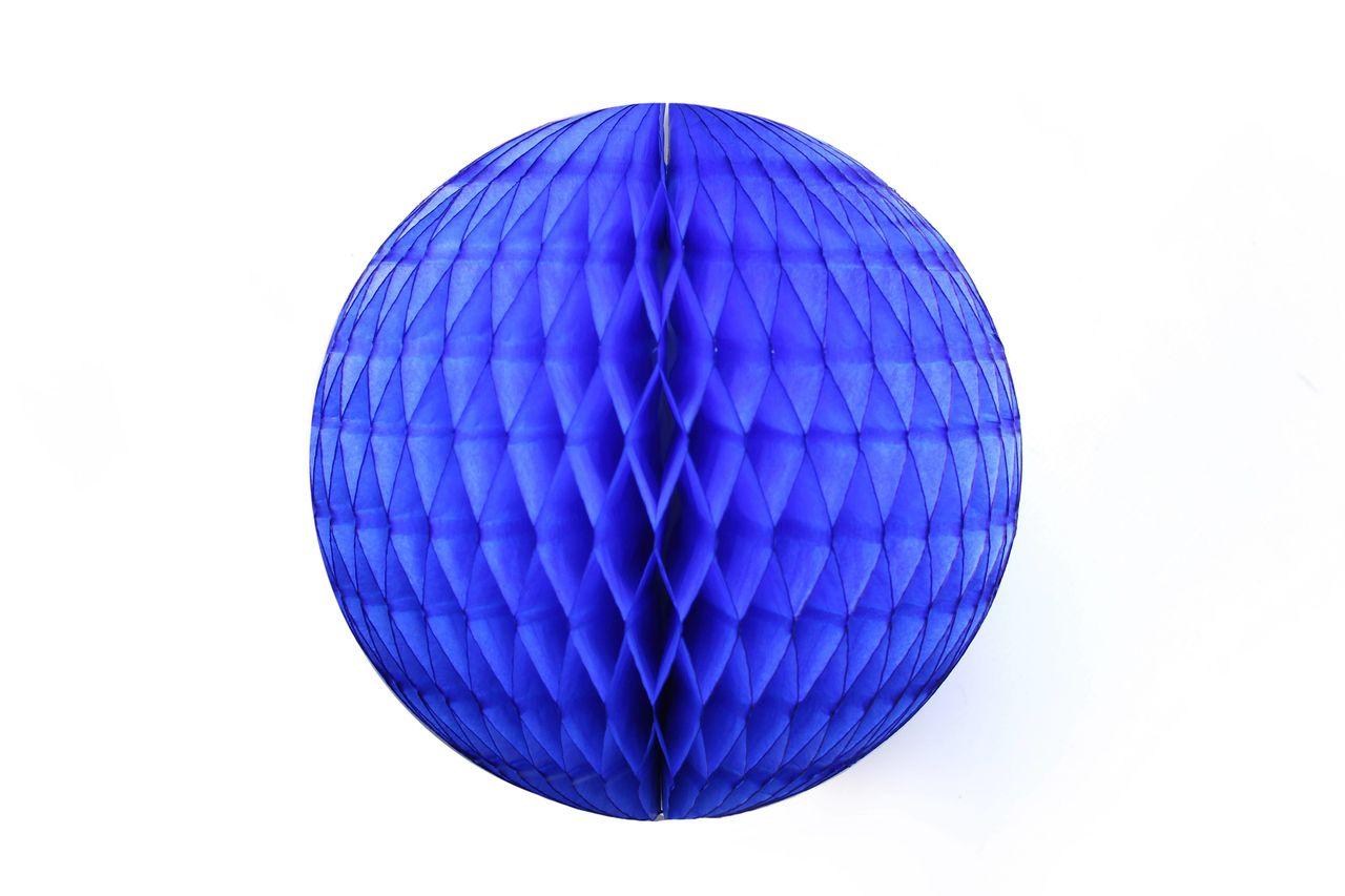 Balão GLOBO Bola de Papel de seda Cor Azul Escuro GiroToy Enfeites