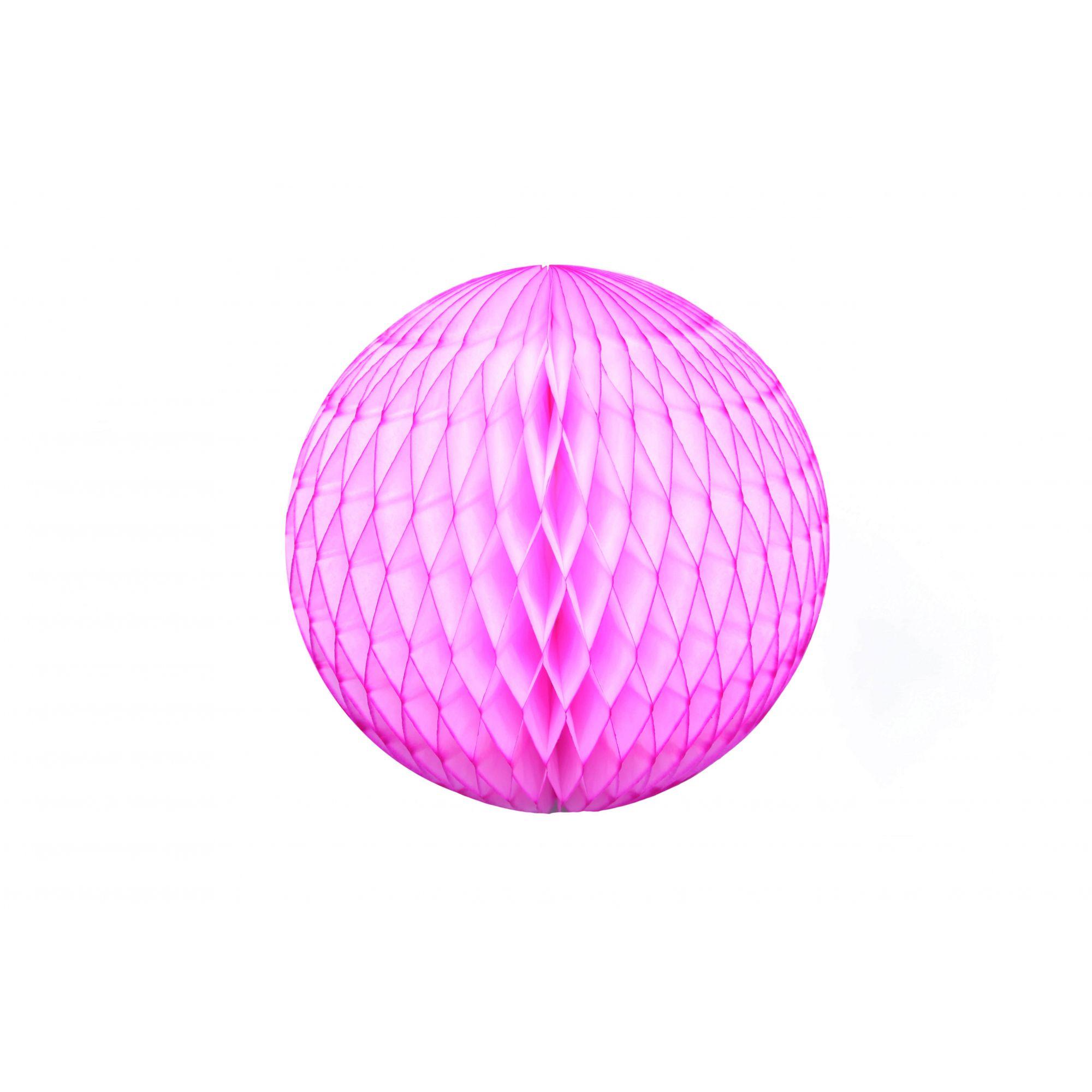 Balão GLOBO Bola de Papel de seda Cor Rosa Choque GiroToy Enfeites