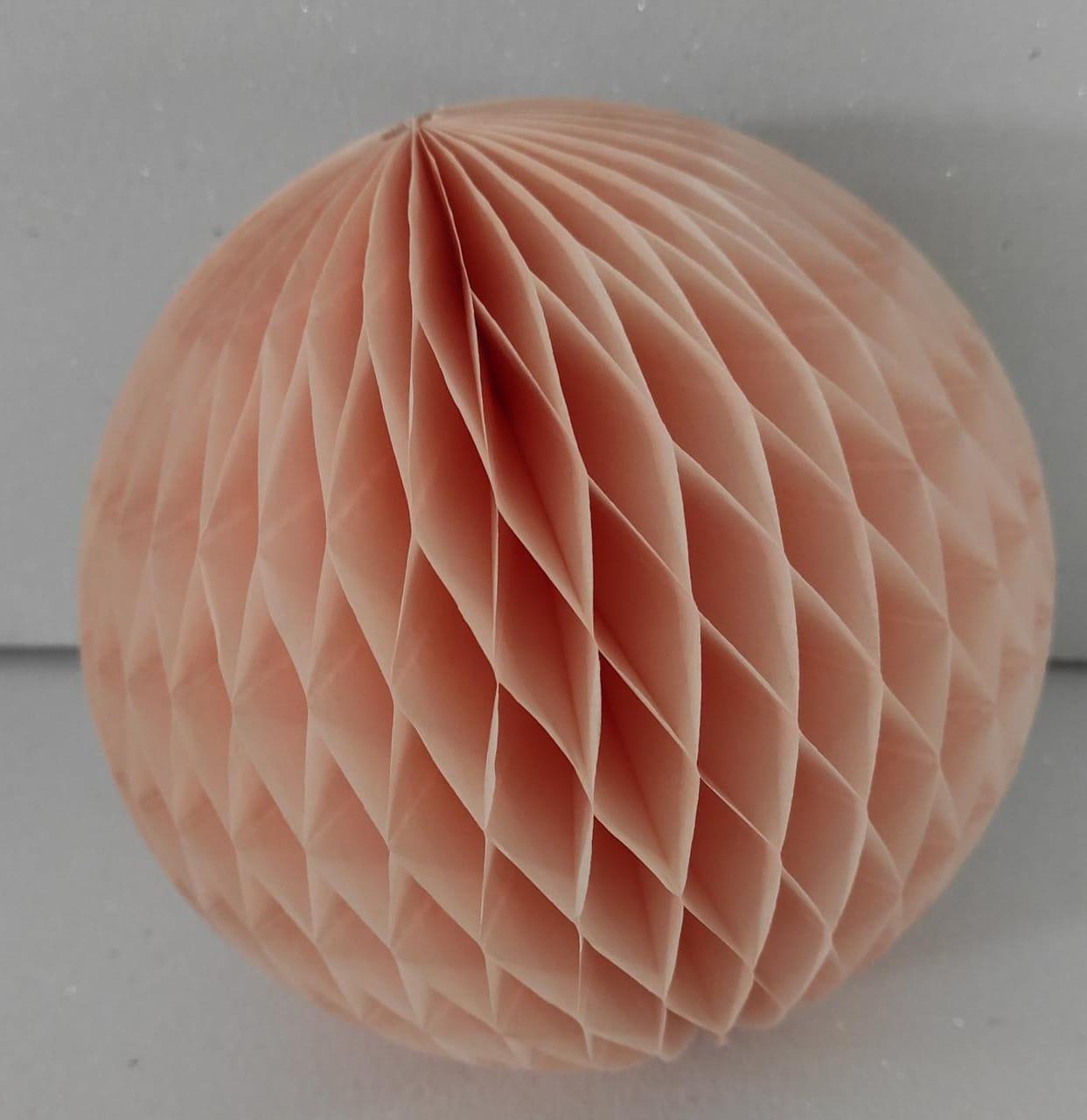 Balão GLOBO Bola de Papel de seda Cor Salmão GiroToy Enfeites