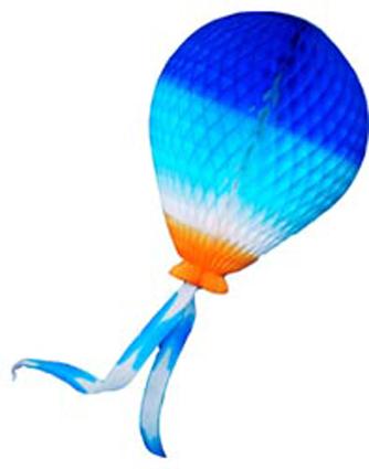 BALÃO PARA FESTAS 390mm (39cm) Tons de Azul c/ Laranja Semelhante a Bexiga decoração de aniversario dia das crianças fazemos personalizados