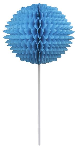 BOLA POM POM 130mm com HASTE Turquesa Pompom de papel seda colmeia GiroToy Enfeites fazemos cores personalizadas
