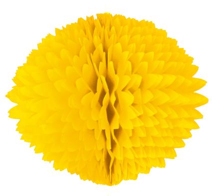 BOLA POM POM Amarelo Claro papel seda colmeia GiroToy Enfeites fazemos cores personalizadas
