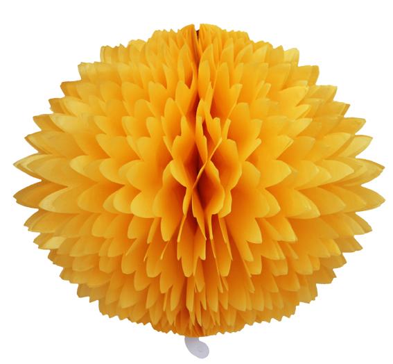 BOLA POM POM Amarelo Ouro Pompom papel seda colmeia GiroToy Enfeites fazemos cores personalizadas