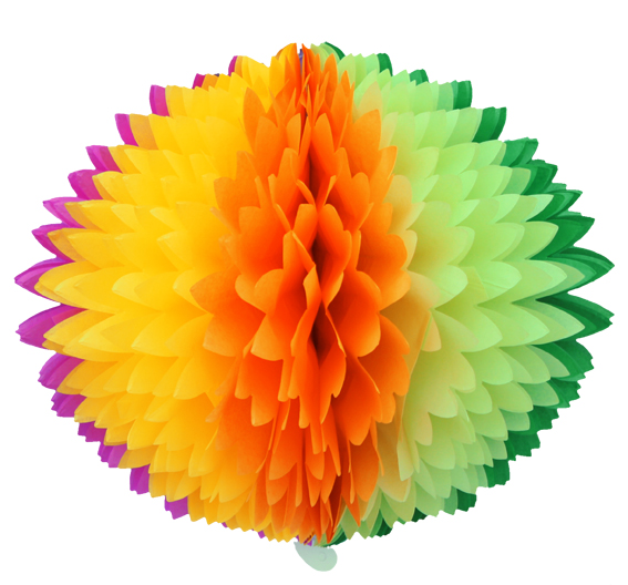 BOLA POM POM Arco Íris Misto Pompom de papel seda colmeia GiroToy Enfeites fazemos cores personalizadas