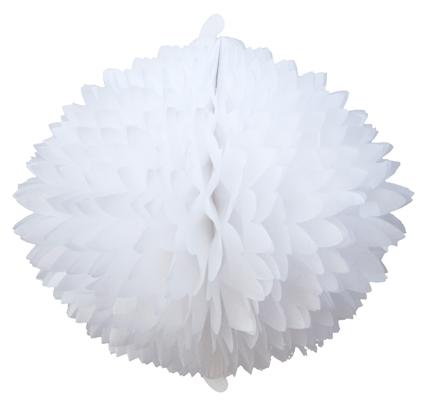 BOLA POM POM Branco Pompom de papel seda colmeia GiroToy Enfeites fazemos cores personalizadas