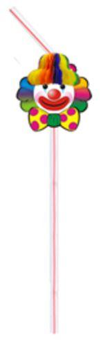 Canudo BIODEGRADAVEL Palhaço c/ 10 Peças - GiroToy Enfeites - Fazemos outras cores - decoração dia das mães