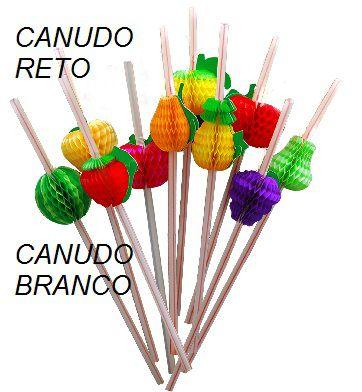Enfeite de Papel de Seda Canudo de PAPEL c/ FRUTAS 10 modelos diferentes c/10 peças sortidas - GiroToy Enfeites