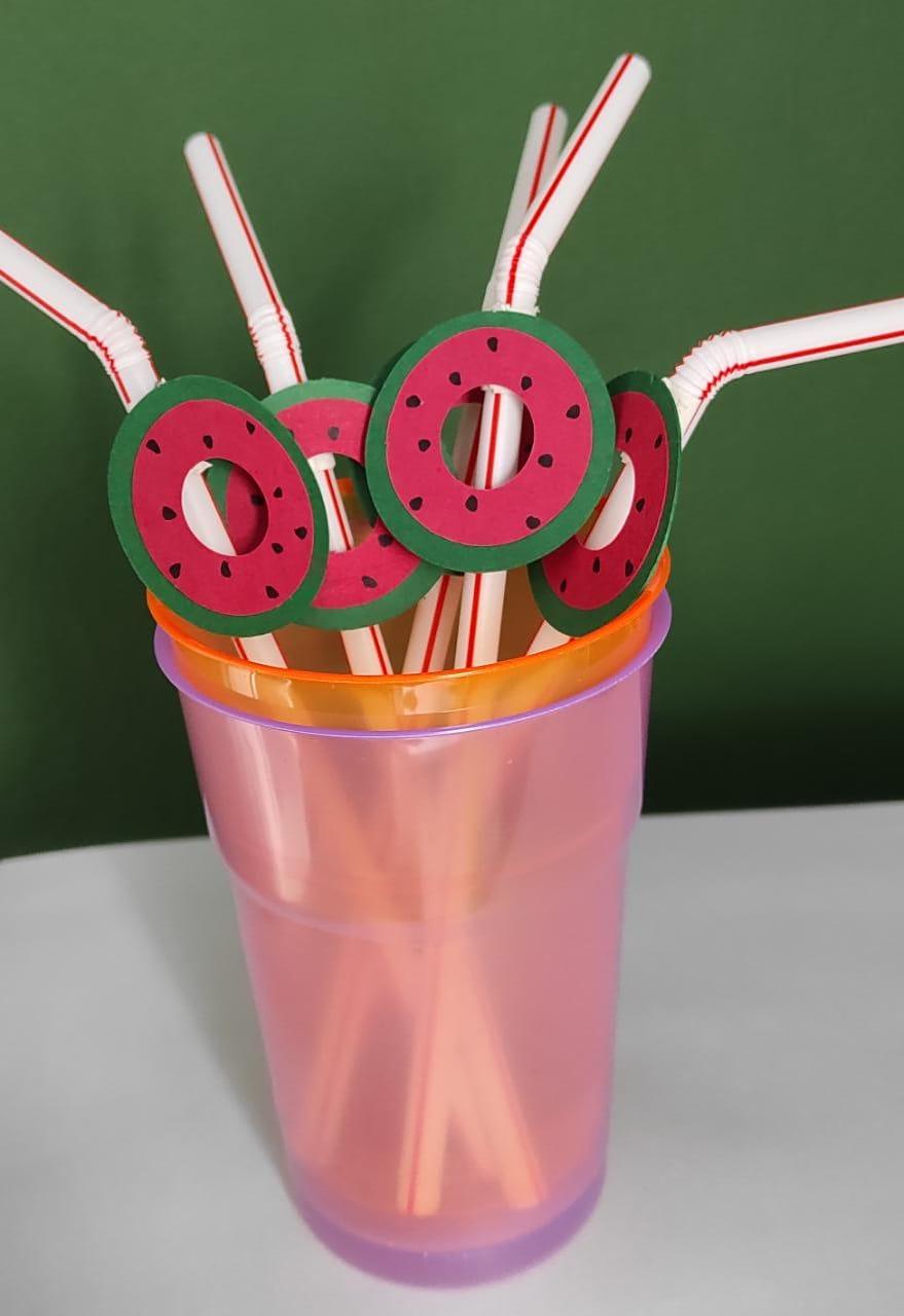 Canudo drink biodegradável personalizado pool party