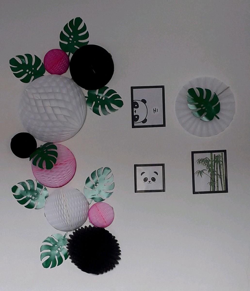 decoração panda kit festa pandinha rosa