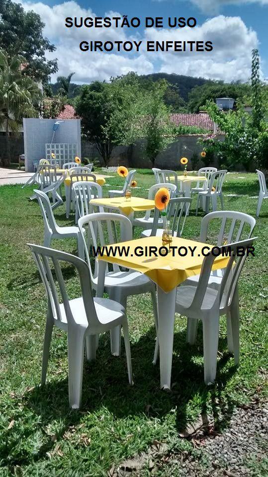 Decoração Tema Girassol 15cm Azulão c/ Amarelo centro de mesa