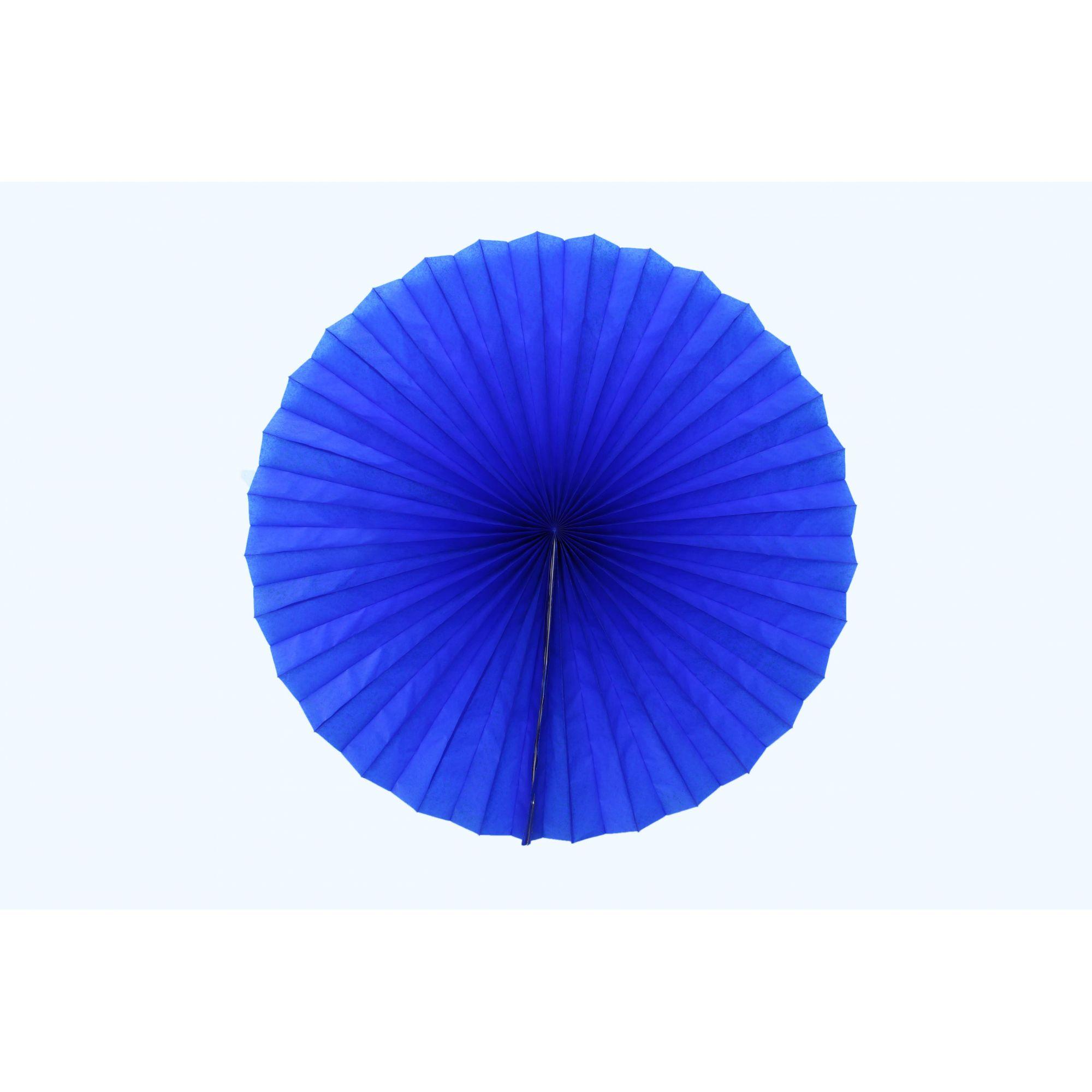 Enfeite de Papel de seda Fiorata, Roseta, Leque de Papel  Azul Escuro - GiroToy