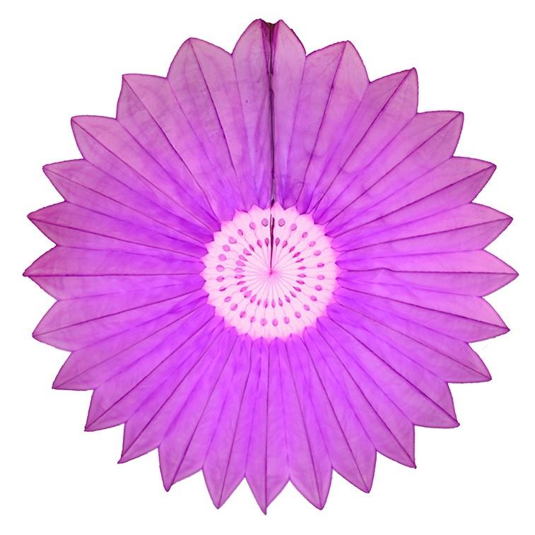 Enfeite de Papel de Seda Margarida Primavera - Fiorata - Lilás c/ Rosa Claro Decoração festa Primavera flores GiroToy