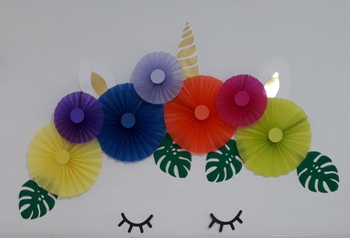 Festa unicórnio painel decorativo personalizado