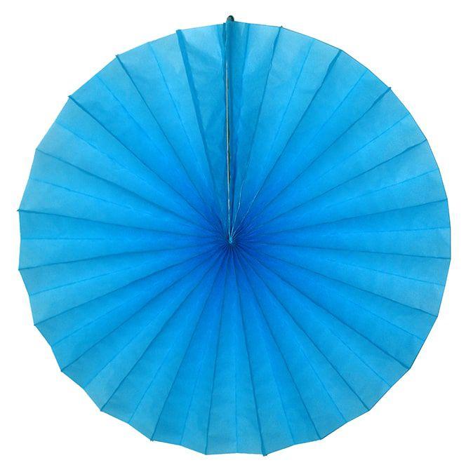 Enfeite de Papel de seda Fiorata, Roseta, Leque de Papel  Azul Turquesa - GiroToy