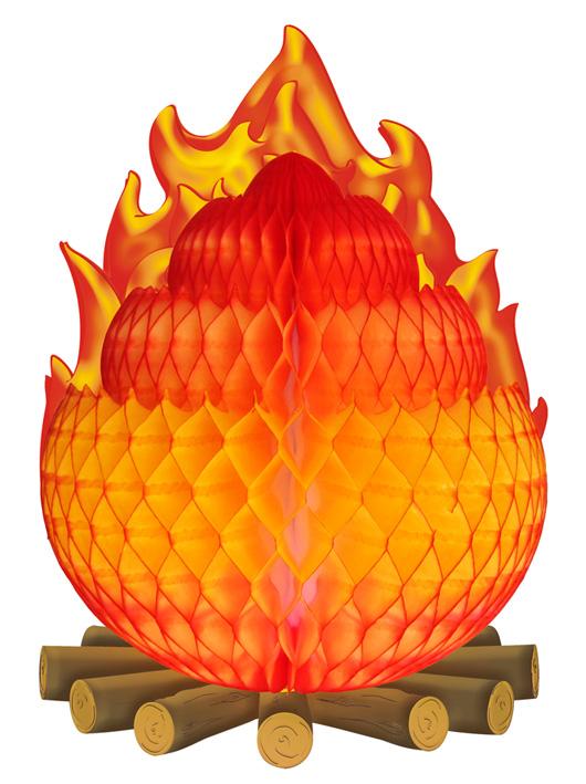Enfeite de Papel de Seda Fogueira decorativa de são joão festa junina julina agostina Fogueira decorativa - GiroToy Enfeites