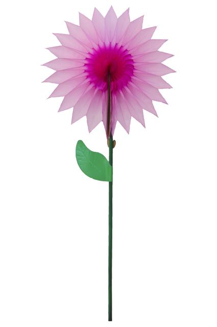 Decoração GIRASSOL de Papel 15cm Rosa Choque c/ Pink centro mesa
