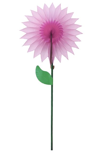 GIRASSOL para decoração 15cm Rosa Claro c/ Rosa Choque de mesa