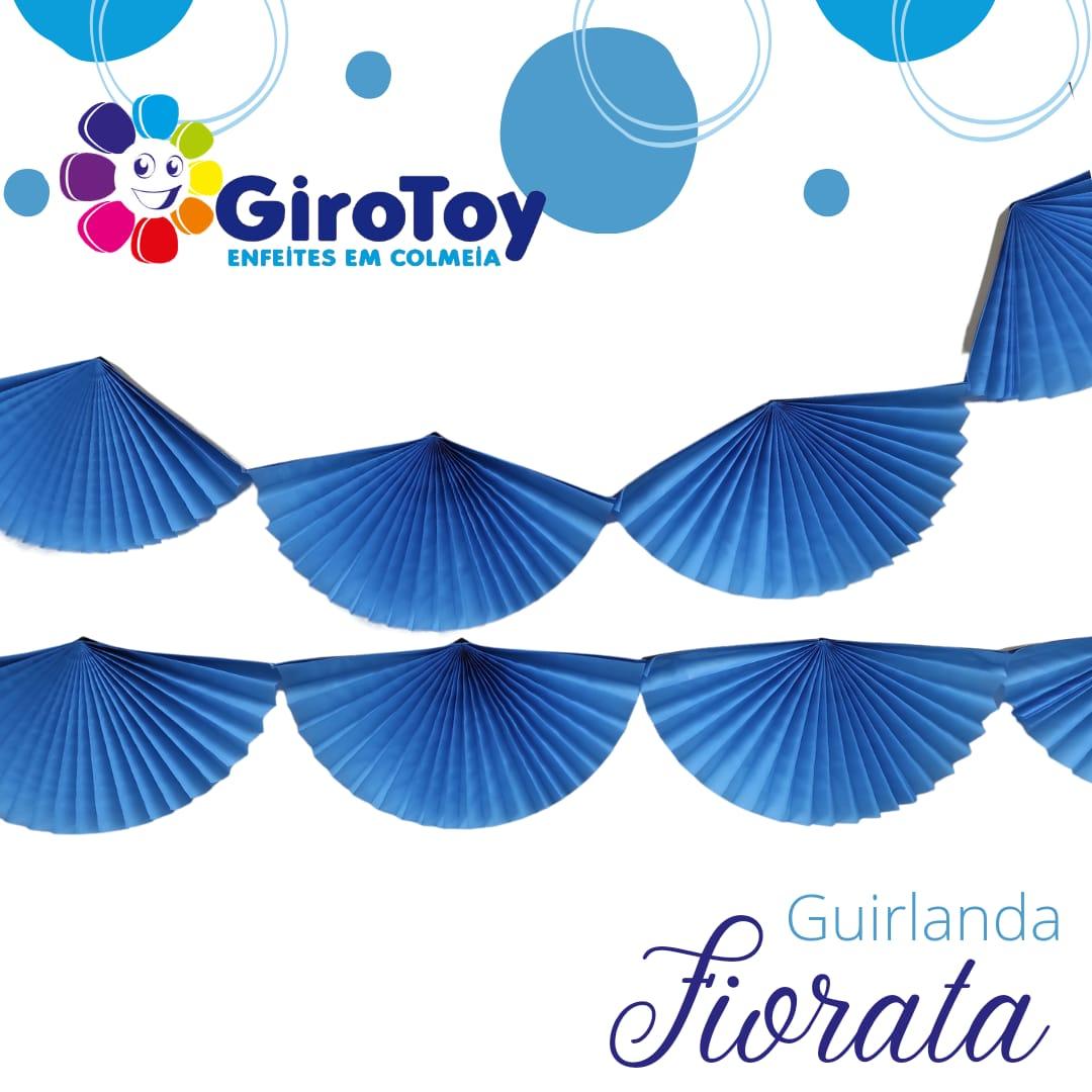 Guirlanda Fiorata varal de leque de papel