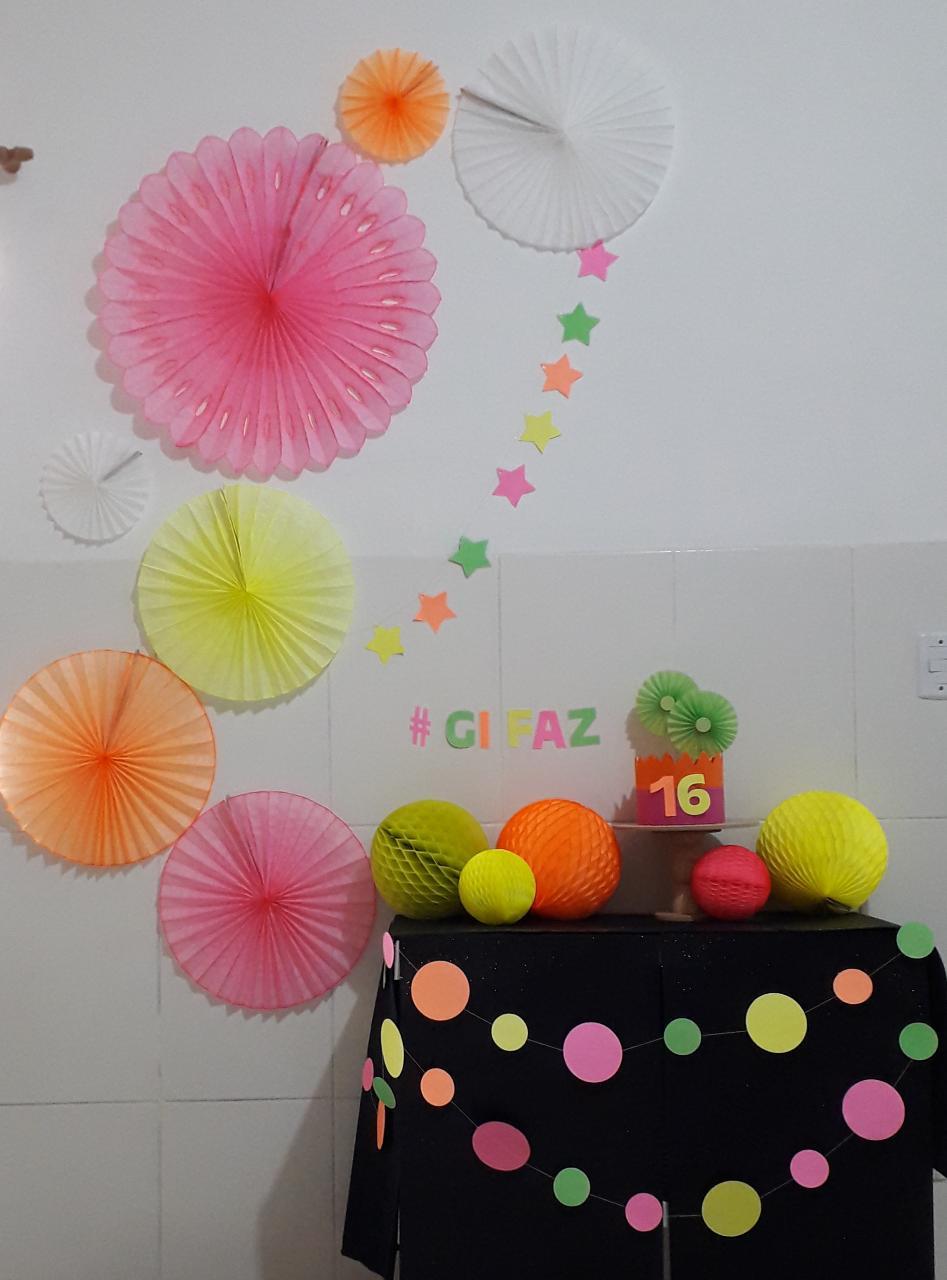 kit Festa Balada baladinha infantil neon