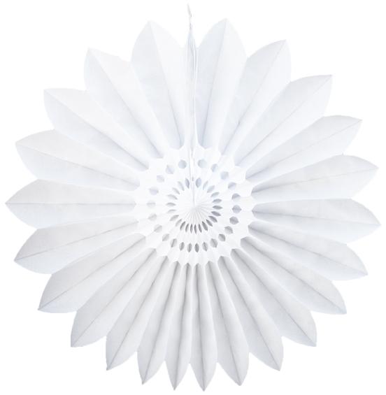 Enfeite de Papel de Seda Margarida Primavera - Fiorata - Branco Decoração festa Primavera flores GiroToy