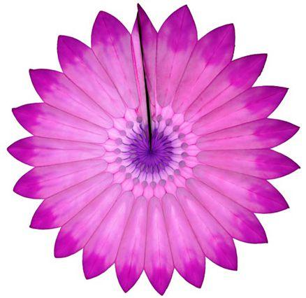 Enfeite de Papel de Seda Margarida Primavera - Fiorata - Tons de Rosa c/ Lilás Decoração festa Primavera flores GiroToy