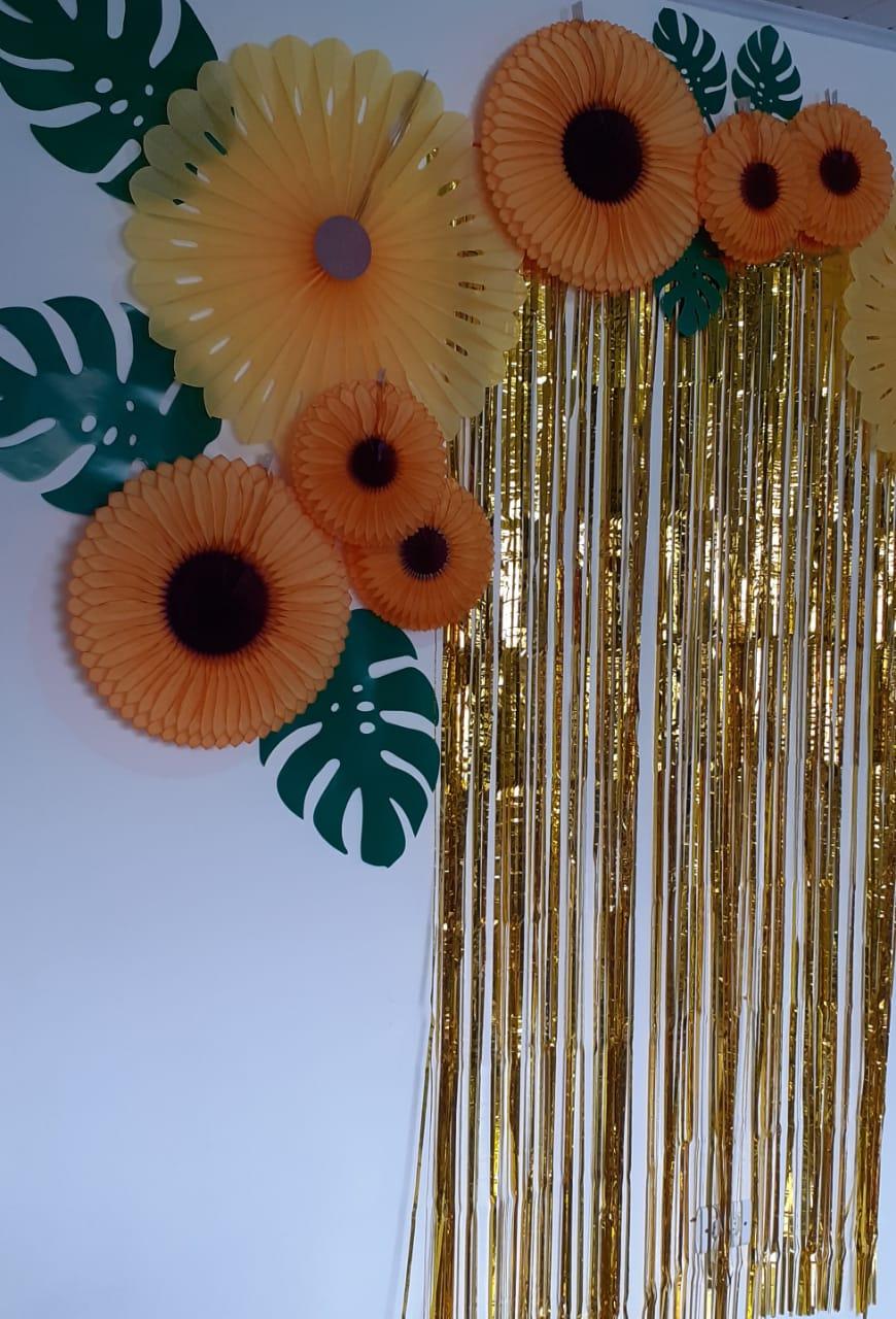 Painel Girassol festa tema girassol