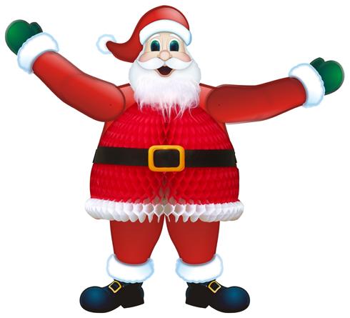 PAPAI NOEL ARTICULÁVEL 57,5cm Decoração Natal ideia de decoração com reciclavel, papai noel papel de seda GiroToy Enfeites Fabrica Enfeites para natal