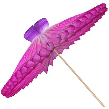 SOmbrinha Frevo 42cm Tons de Rosa com Lilás Guarda Chuva de Papel Gurada chuva frevo para decorar dançar salvador bahia olinda pernambuco GiroToy Enfeites