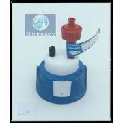 Tampa de segurança 2.0 para frascos de solvente HPLC, 1 conector em PFA 3,2 mm OD, vendida por unidade