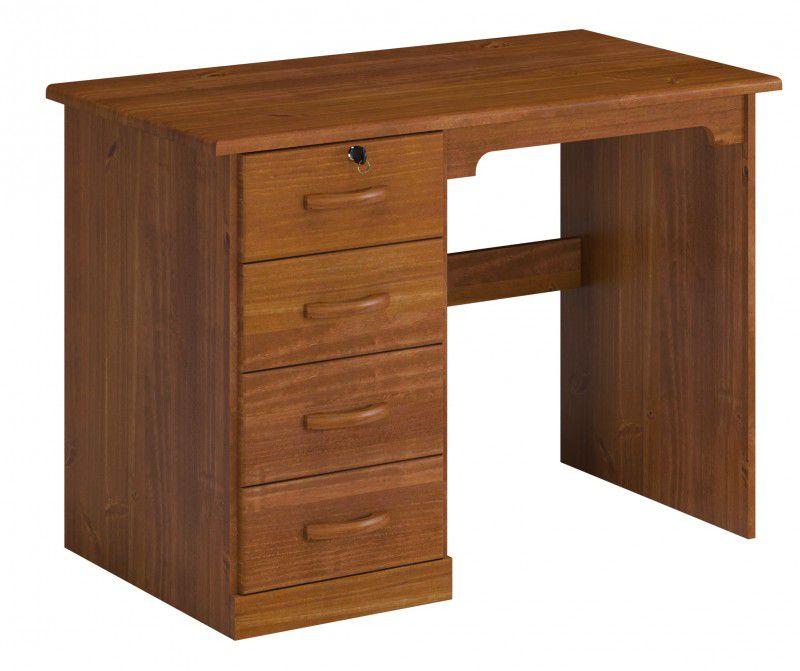 Escrivaninha 4 Gavetas Office Cairo de Madeira Maciça Pinus