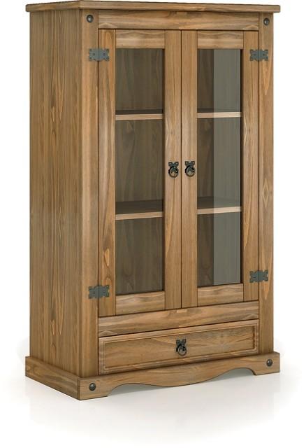 Estante Imperial 02 Portas / 1 Gaveta de Madeira Maciça Pinus