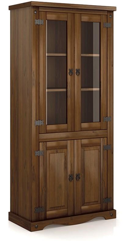 Estante Imperial 04 Portas de Madeira Maciça Pinus