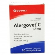 Alergovet C 1,4 Mg - Anti-histamínico - 10 Comprimidos