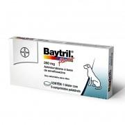 Antibiótico Bayer Baytril Flavour 250 Mg - 06 Comprimidos