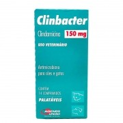 Antimicrobiano Clinbacter 150mg Cão Gato 14 Comp
