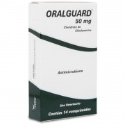 Antimicrobiano Oralguard 50mg Cães Gatos - 14 Comp