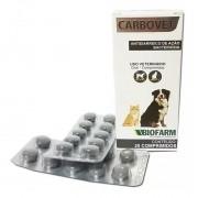 Carbovet Caixa C/20 Comprimido - Biofarm Cães Gatos