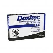 Doxiciclina Doxitec 50mg Antibiótico Cães - 16 Comprimidos