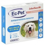 Ec-pet Antipulgas E Carrapatos Cães - 21kg A 40kg - 2,68ml