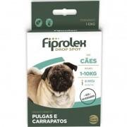 Fiprolex Drop Spot Para Cães 1 A 10 Kg