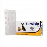 Furolisin Furosemida 10mg Vetnil Cão Gato - 10 Comprimidos