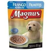 Kit 10 - Magnus Sache Cães Filhotes 85g - Frango