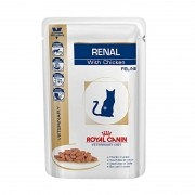 Kit 3 - Alimento Úmido Royal Canin Gatos Renal - 85g