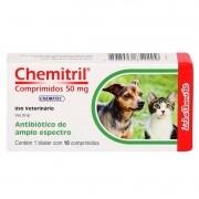 Medicamento Chemitril Para Cães E Gatos - 10 Comprimidos - 5