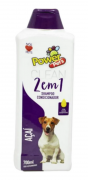 Shampoo 2x1 Para Cães E Gatos - Power Pets Açaí 700ml