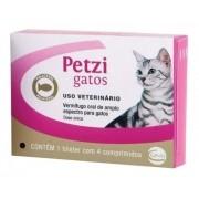 Vermifugo Petzi Gatos Caixa Com 4 Comprimidos